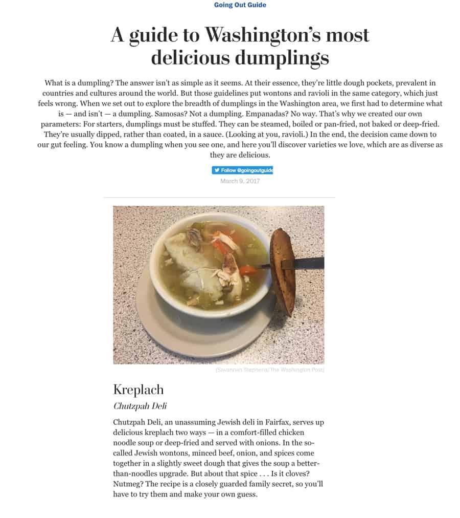 Best Most REAL New York Restaurant in Fairfax VA 22033 | Chutzpah Deli